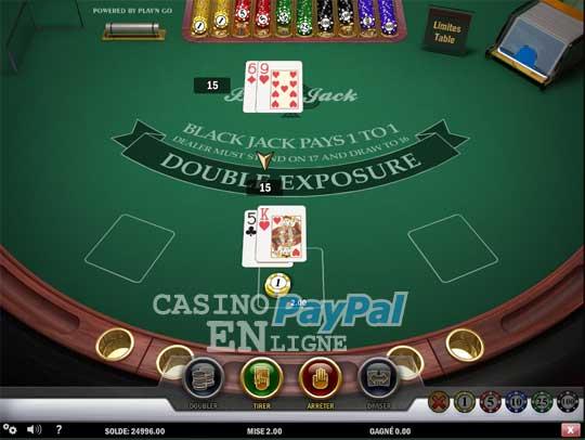 Blackjack à Double Exposition