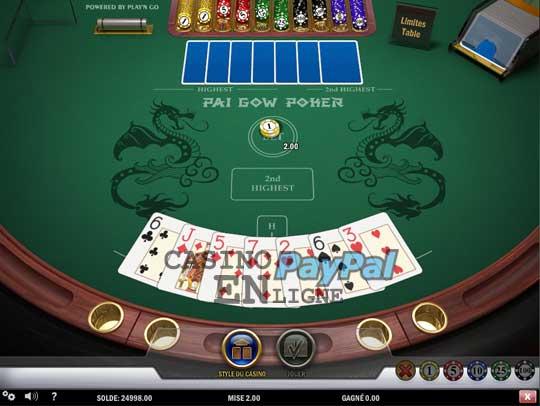 Poker Pai Gow