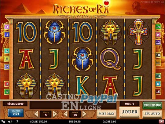 Casino en ligne depot paypal